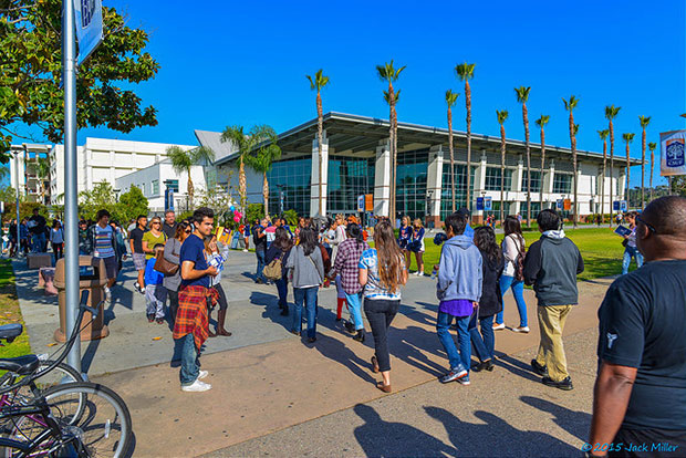 Students at Cal State Fullerton, and all CSU and UC campuses, face possible tuition hikes. Photo credit: Flickr